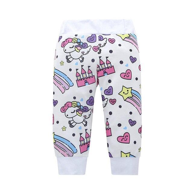 Nouveau-né infantile bébé fille vêtements ensemble mode licorne Pegasus étoile coeur château 4 pièces hauts body/T-shirt + pantalon + chapeau + bandeau