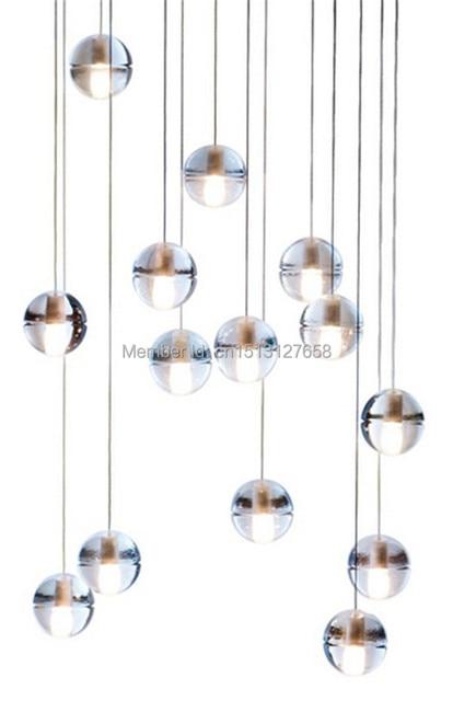 Bocci Len bocci selling modern 14 14 clear cast glass lamp pendant