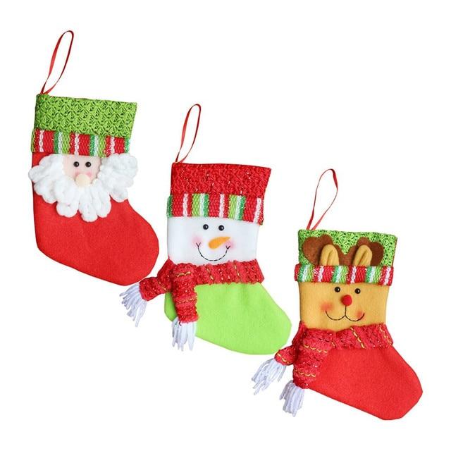 3 patrones del árbol de Navidad decoraciones calcetines adornos Año ...