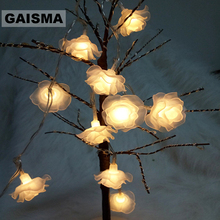 1.5M 3M 6M Rose Battery LED Garland String Lights Christmas Fairy Lights Wedding Decoration For Holiday Party Lighting Chain string lights new 1 5m 3m 6m fairy garland led ball waterproof for christmas tree wedding home indoor decoration battery powered
