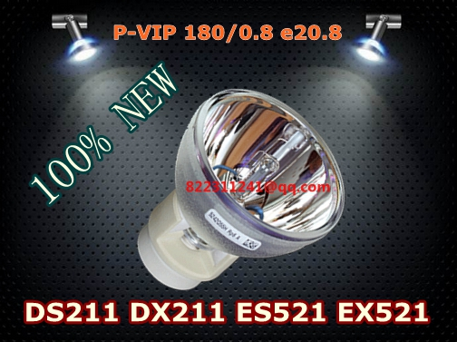 SP.8LG01GC01 Projector bulb Lamp P-VIP 180/0.8 e20.8 for OPTOMA DS211 DX211 ES521 EX521 compatible p vip 230w 0 8 e20 8 projector lamp np19lp bulb for u250x u260w