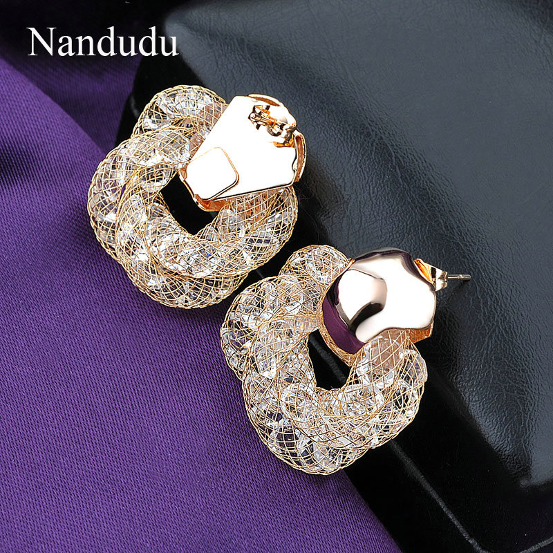 titanium stud diamond p stainless black classic crystal popular steel earrings women