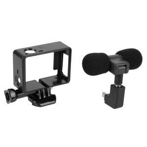 Image 4 - Alloyبالدخول ميكروفون صغير ستيريو 3.5 مللي متر الرياضة عمل كاميرا اكسسوارات Mic ل GoPro بطل 3/3 +/4 مع USB صغير إلى 3.5 مللي متر محول