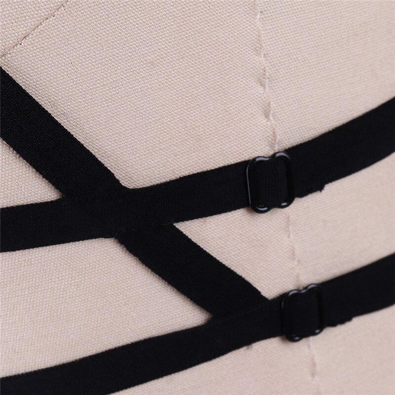 Женский сексуальный короткий топ бондаж жгут Фетиш Эластичный Бюстгальтер Клетка рейв одежда боди ремни белье Сексуальная Пастельная подвеска в готическом стиле Bralett