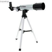 On sale F36050M 360/50mm Refractive Astronomical Telescope with Portable Tripod Spotting Scope Outdoor Monocular Astronomical Telescopes