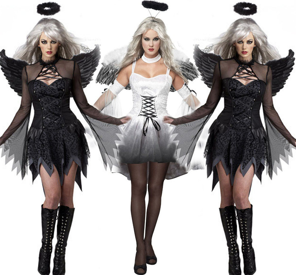 adult Queen Of The Vampires costume halloween costumes for women sexy cosplay black gothic lolita dress fantasy women