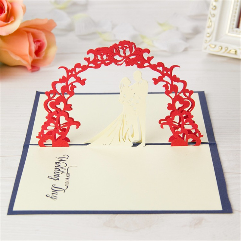 3D Love memorial sweet blessings WeddingGreeting Cards Birthday Christmas greeting card Wedding Invitation