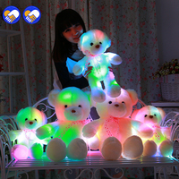 A Toy A Dream 50 60CM Glowing Teddy Bear Creative Inductive Luminous LED Plush Toys Colorful