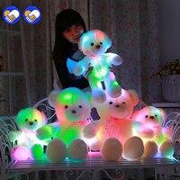 Een speelgoed Een droom 50/60 CM Gloeiende Teddybeer Creatieve Inductieve lichtgevende LED Knuffels Kleurrijke Gevulde Teddybeer Mooie Geschenken voor