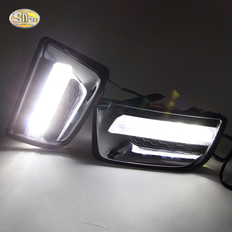SNCN LED Daytime Running Lights for Isuzu D-MAX 2014 2015 Fog lamp 12V ABS DRL for isuzu emps iii 2014