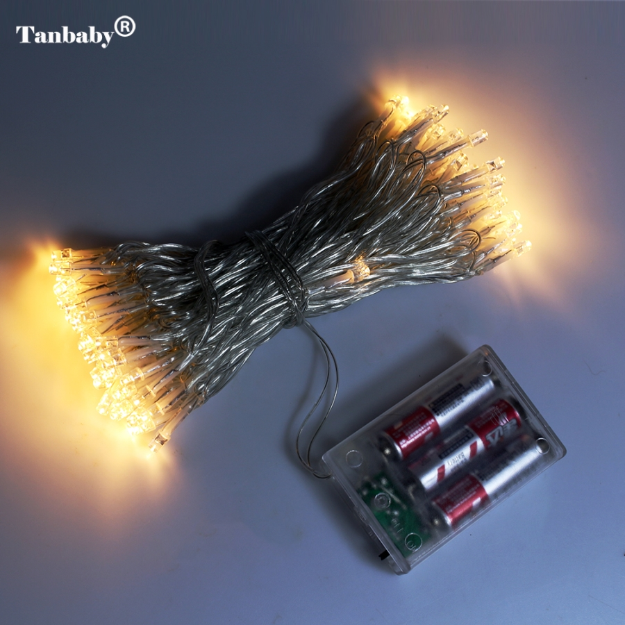 led decorative lights for weddings tanbaby 10m 80leds battery powered lights led string 5442