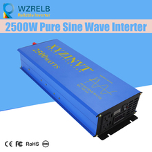 Reliable Peak 2500W Pure Sine Wave OFF Grid Inverter DC12V/24V to AC220V Power Converter Houseuse Solar System