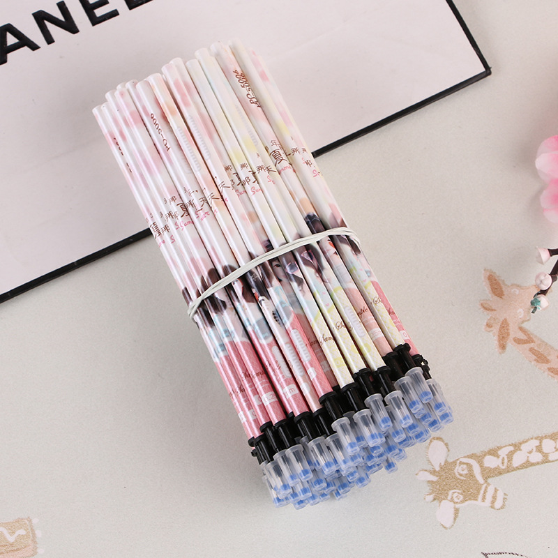 цены на 5 PCS Neutral Pen Erasable Pen Unisex 0.38mm Needle Tube Gel Pen Refill Learning Essential Office Material School Supplies в интернет-магазинах
