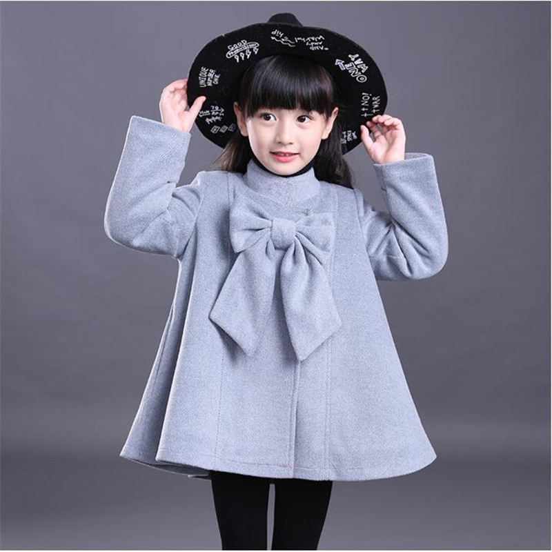 Girl's woolen coat 2018 new fashion princess children's woolen coat in the long autumn and winter clothing