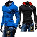 2016 Hoodies Dos Homens da Forma Dos Homens Design Com Zíper Lateral Pullover Treino SportWear Hoodies Dos Homens E Camisolas Assassins Creed