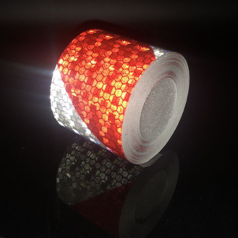 5cmx1m Mark Reflective Tape Stickers Car-styling Self Adhesive Warning Tape Automobiles Motorcycle Reflective Tape