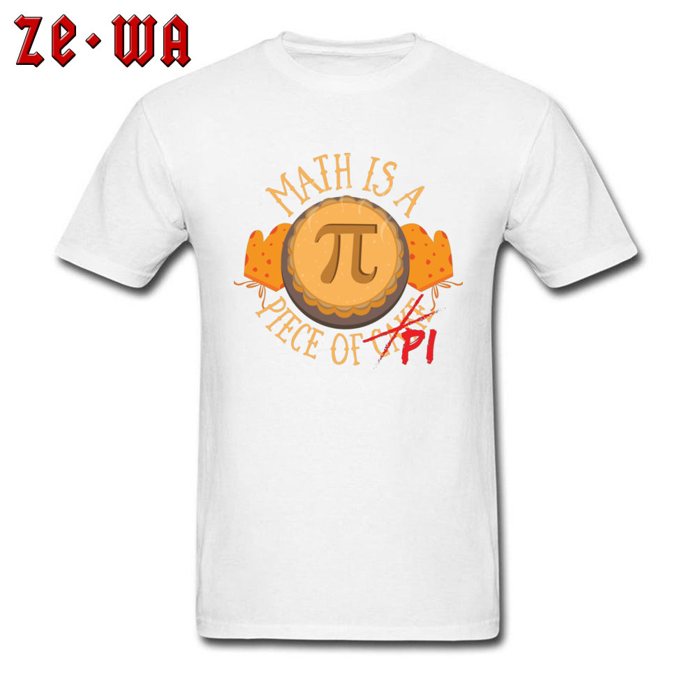 Math Pi -3202 Wholesale Short Sleeve Leisure T-Shirt Cotton Fabric Crew Neck Men Tops Tees Custom T-Shirt Summer/Autumn Math Pi  -3202 white