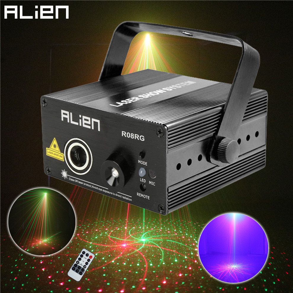 2016 New Led RG 8 Pattern DJ Mini Laser Projector Stage Lighting Effect Red Green Xmas Home Party Christmas Club Bar Blue Lights laser stage lighting 48 patterns rg club light red green blue led dj home party professional projector disco dance floor lamp