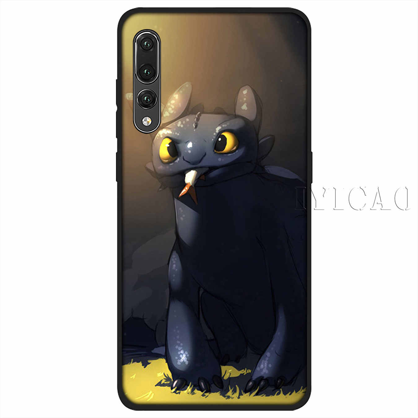 IYICAO toothless How To Train Your Dragon Soft Silicone Case for Huawei P30 P20 Pro P10 P9 P8 Lite Mini 2017 2016 P smart Z 2019