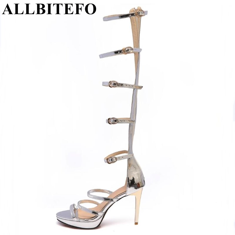 ALLBITEFO 2017 new summer sexy fashion thin heel platform women sandals buckle high heel shoes woman sandalias de la mujer xiaying smile summer new woman sandals platform women pumps buckle strap high square heel fashion casual flock lady women shoes