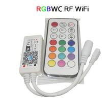 цены DC12-24V Mini Wireless WIFI LED RGB / RGBW Controller RF Remote Control IOS/Android Smart Phone for RGBCW/RGBWW RGB LED Strip