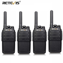 4 PCS RETEVIS RT28 Walkie Talkie PMR Radio VOX PMR446/FRS Micro USB Charging Portable Mini Two Way Station Transceiver