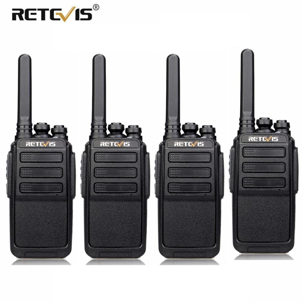 4 pièces rechapé RT28 talkie-walkie PMR Radio VOX PMR446/FRS Micro USB charge Portable Mini émetteur-récepteur de Station de Radio bidirectionnelle