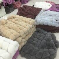 Wholesale Real Fur Vest Women Fox Fur Vest Genuine Fox Fur Length 70 cm Winter Coat