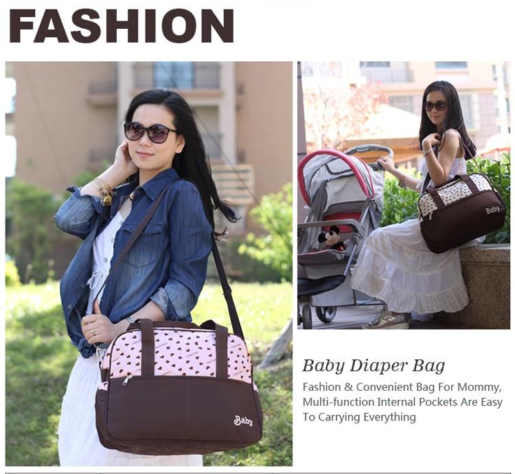 insular multifunctional diaper bags maternity mummy handbag baby care stroller bag High capacity mother Messenger nappy bags 1
