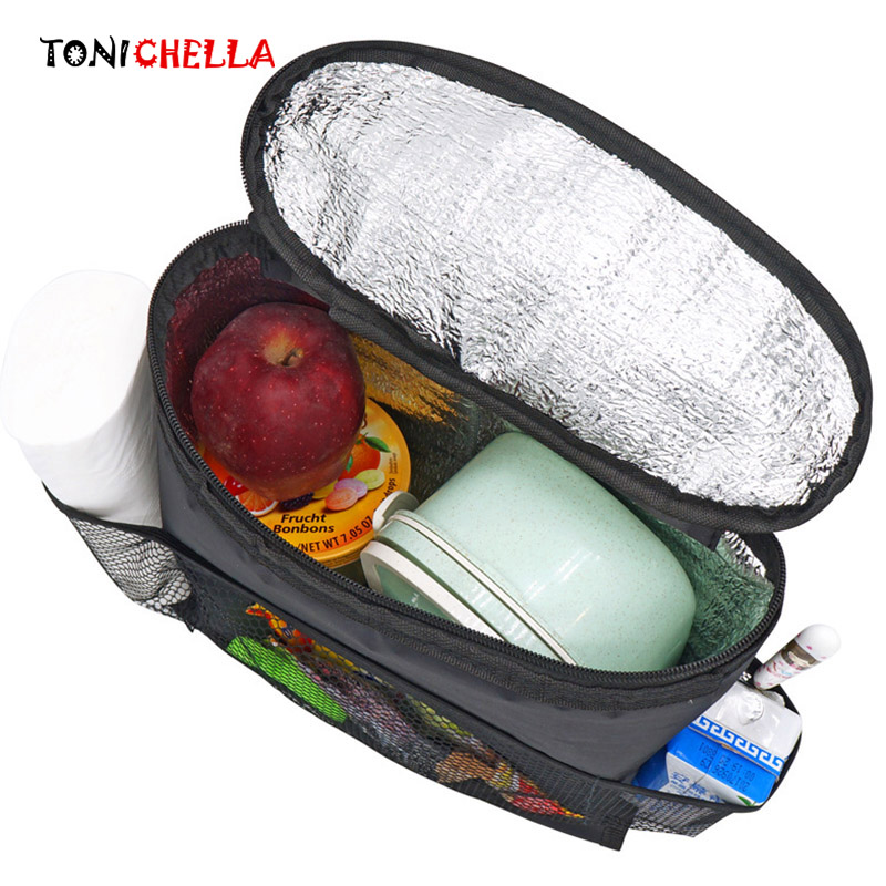 Multifunction Car Seat Organizer Mummy Bags Baby Insulation Feeding Milk Breast Bottle Thermal Tissue Storage Hanging Bag CL5340