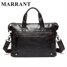 MARRANT Genuine Leather bag Business Men bags Laptop Tote Briefcases Crossbody bags Shoulder Handbag Men's Messenger Bag 9103