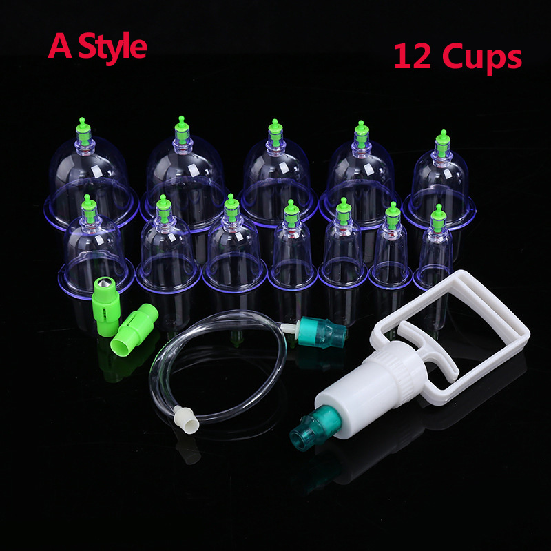 12 Cans Cupping Set  Medical Vacuum Cupping Suction Therapy Device Body Massager Set Chinese Medical