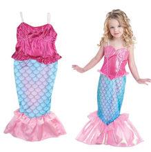 043283492140 Bambini del bambino la sirenetta coda principessa ariel ragazza di cosplay  costumi di halloween per i bambini pannello esterno d.