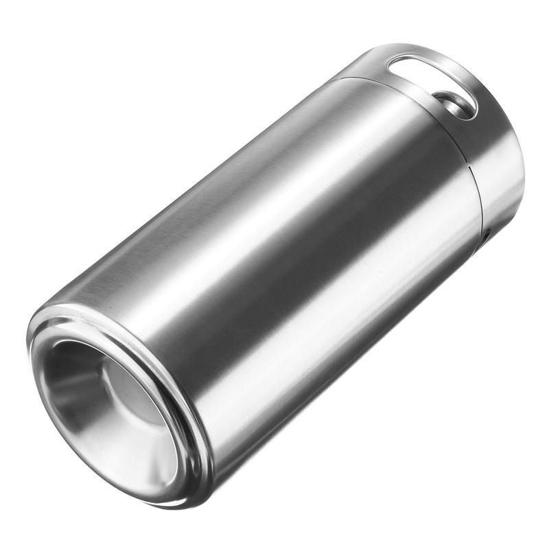 3.6L 115oz Mini Keg Growler Wine Pot 304 Stainless Steel Beer Bottle Homebrew Barware