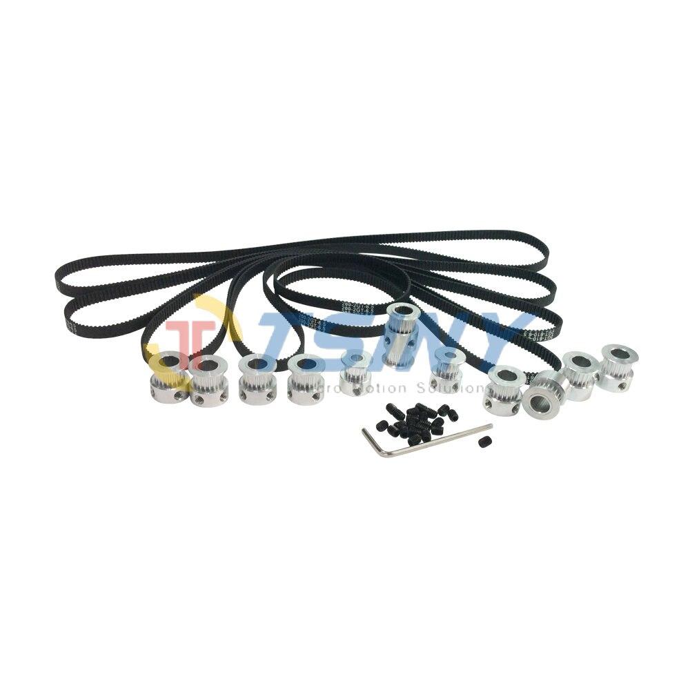 GT2 Cloesd Loop Timing Belt 200mm*2pcs 610mm*4pcs and 2GT Pulley 16 Teeth 2pcs 20 Teeth 8pcs Double Head 20 Teeth for DIY Parts