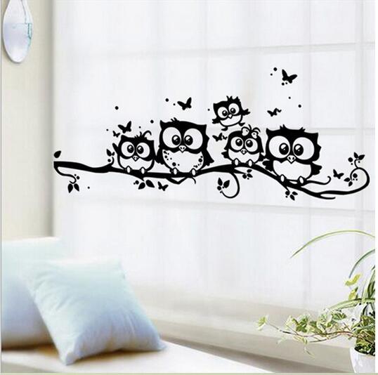 comprar negro de dibujos animados bho etiqueta de la pared extrable arte del vinilo para nios habitacin de stickers coin fiable