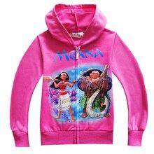 Moana Costume Kids Jacket Movie Moana Hoodies for Girls Long Sleeve Outwear Maui Clothing Sweater Baby Clothes Vaiana Sweatshirt