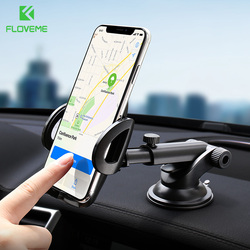 FLOVEME Car Phone Holder For iPhone Xs Max XR Phone Holder Car Mount For Phone in car Windshield Grip Telefoonhouder Auto Tutucu