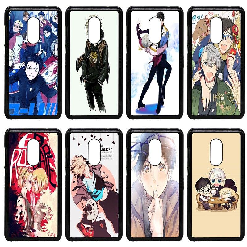 Yuri on Ice Anime Cell Phone Case Hard Plastic Cover for Xiaomi Redmi 3X Mi 6 5 5S Plus Note 4X 2 3 3S 4 Pro Prime Black Shell