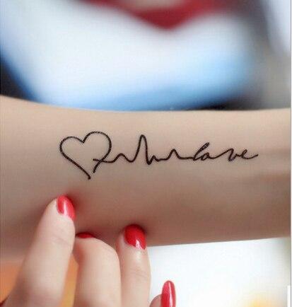 ღ ღventa Caliente Tatuaje Palabras Amor Impermeable Oracion Para