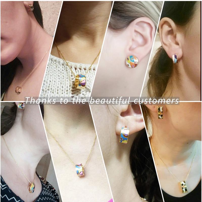 Promosi Baru Kedatangan TOP Kualitas Kecil Wanita Enamel Set - Perhiasan fashion - Foto 2