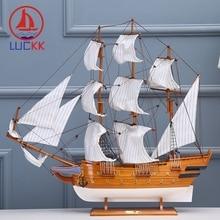 LUCKK 70CM WASA 1628 Wooden Classic Ships Model Creative Marine Craft Home Interior Decoration Sea Sailboat Figurines Ornament