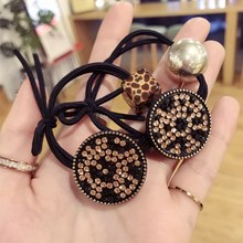 Korea New Style Cycle Flower Rhinestone Hair Accessories Hair Bows Elastic Hair Bands Rubber Band Hair Ring Headbands For Girls
