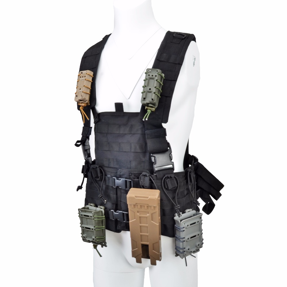 Tactifans MOLLE Vest for Magazine Pouch Modular Chest Black AR 15 Rifle M4 Airsoft Accessories Water Bag Tactical Vest Armor accessories bag quick tug tactical vest accessory box page 4