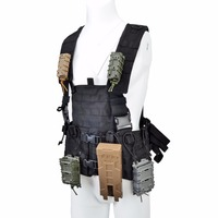 Tactifans MOLLE Vest for Magazine Pouch Modular Chest Black AR 15 Rifle M4 Airsoft Accessories Water Bag Tactical Vest Armor