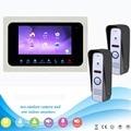 "7 ""800TVL TFT LCD Двери Монитор Видеодомофон Домашний Телефон Двери Система Рекордер Поддерживает SD/TF Карта с 1 монитор + 2 камеры F1360"