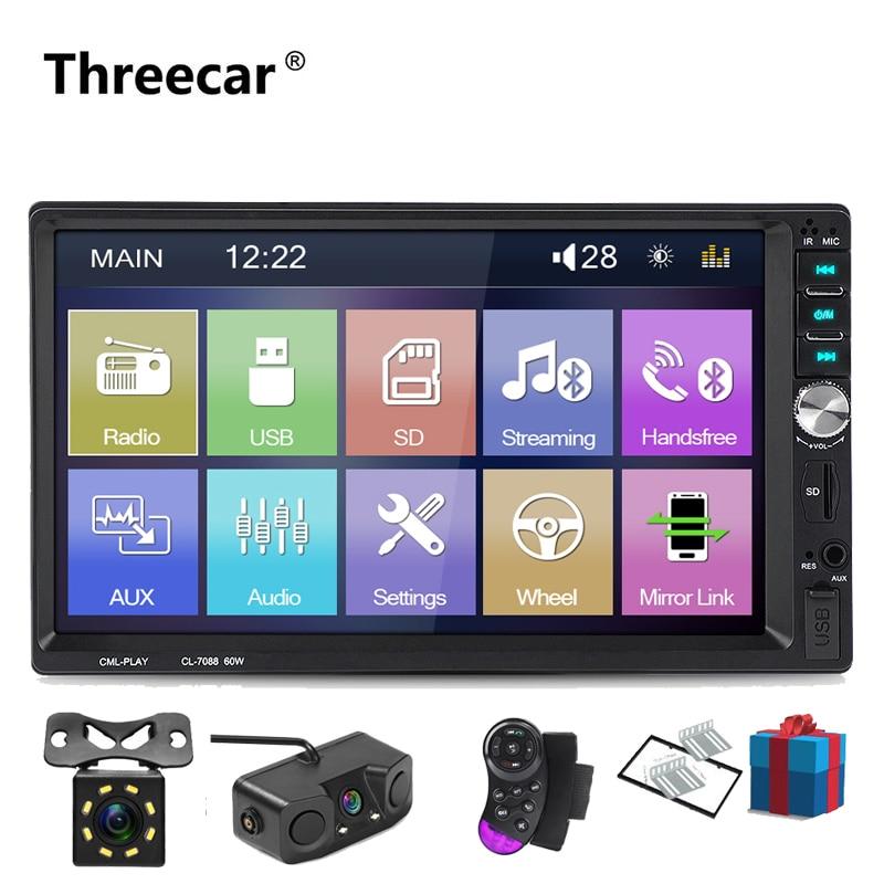 2din автомобильный Радио 7 дюймов сенсорный mirrorlink Android плеер сабвуфер MP5 плеер Авторадио Bluetooth Камера заднего вида магнитофон