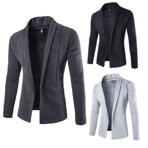 New Fashion Men Stylish Long Sleeve Slim Fit Knit V-Neck Cardigan Long Sweater Coat Jacket Casual Mens Slim Jackets Coats