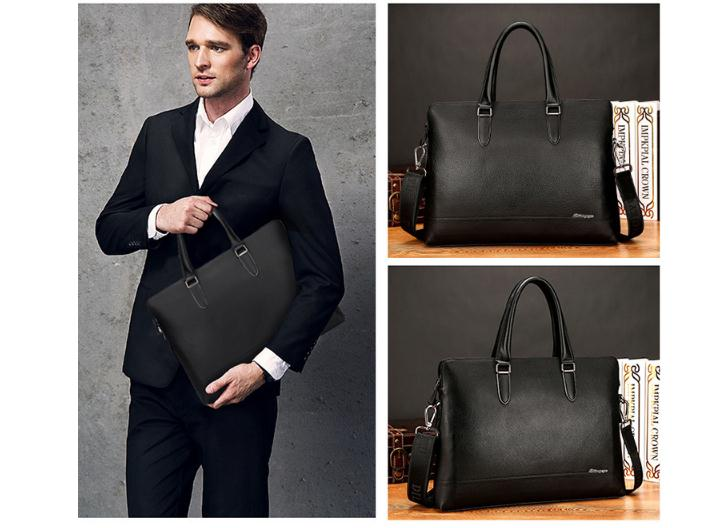 Free Shipping,Brand Men's Cowhide Handbag.genuine Leather Business Briefcase,quality Bag,casual Briefcase.sales.gift Bag