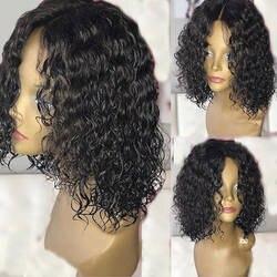 Натуральные перуанская волна человеческих волос парики с волосами младенца около 150% Плотность 13*4 парик из натуральных волос можно